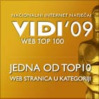 Pika i prijatelji su dobitnici VIDI WEB 100 AWARDS U 2009. GODINI
