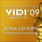 Pika i prijatelji su dobitnici VIDI WEB 100 AWARDS U 2009. GODINI